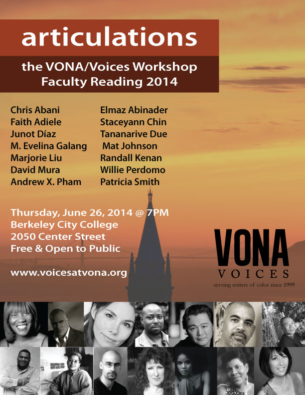 Free, star-studded VONA Faculty Reading (6/26)!